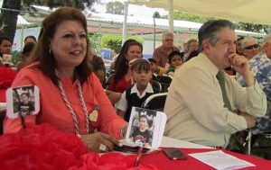 Enjoying the NCA graduation celebration program on Saturday July 18 are Dra. Patricia de la Torre Greenfield, Director of the SEJ Post-Graduate Center for Pedagogical and Social Research, and Dr. Moisés Ledezma Ruíz, Director of the SEJ Technical Secondary Schools.